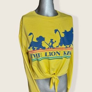 Disney Lion King Yellow Long Sleeved Crop Small